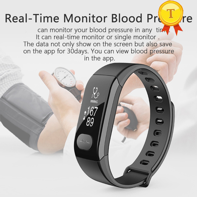 2017 New Arrival Smart Sports Watch Bracelet With Heart Rate Step Counting Blood Pressure Oxygen