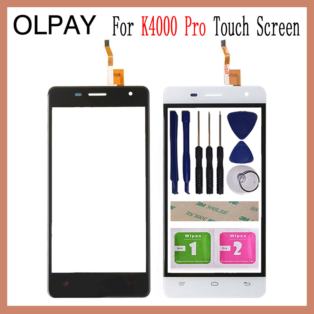 OLPAY 5.0'' Mobile Touch Screen For Oukitel K4000 Pro Touch Screen Front Glass Digitizer Free Adhesive And Wipes