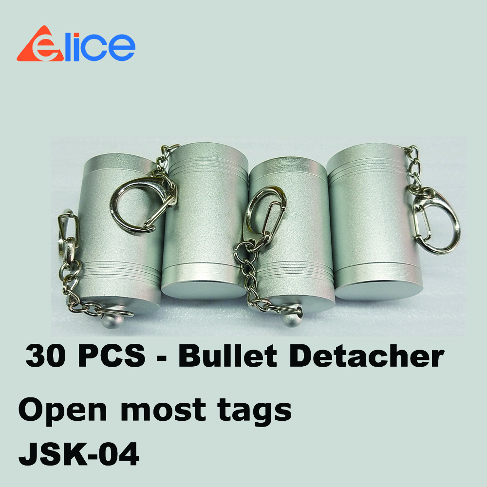 Free Shipping 30 Pcs Eas System Hard Tag Remove Super Magnet Bullet Unlock Detacher To Peru By Dhl!