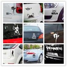 Cool 1 Pcs Car Sticker Panda Cat Dog Sexy Girl Booty Call Reflective Vinyl Car Sticker Decal Wholesale|2019 New Car Sticker стоимость