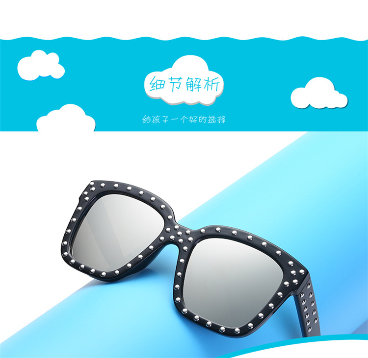 Diamond  Kids Sunglasses Children Sun Glasses Baby Eyeglasses Boys Girls UV400 Outdoor Decoration (3)