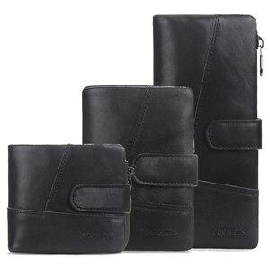 Image 3 - 브랜드 남자 지갑 클러치 블랙 정품 암소 가죽 남성 돈 가방 달러 가격에 대 한 동전 지갑 주위에 고품질 디자인 지퍼