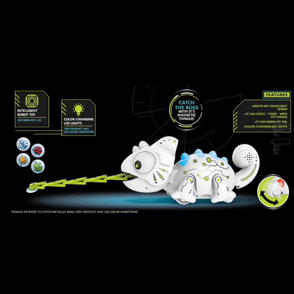 Animais de Estimação eletrônicos brinquedos RC robô Inteligente Função camaleão Animais Robóticos Podem Comer Coisas Bonito Brinquedos Inteligentes Para crianças dos miúdos @ 30