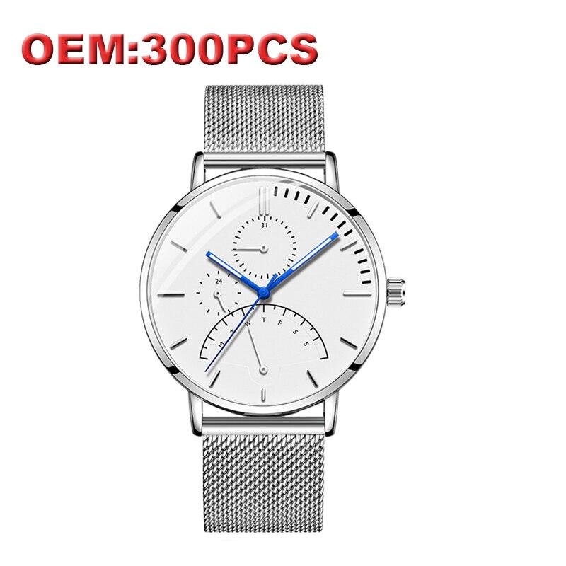 DOM marque de luxe personnalisé votre propre marque montre de mode bracelet en acier casual Quartz hommes montres montre étanche de haute qualité
