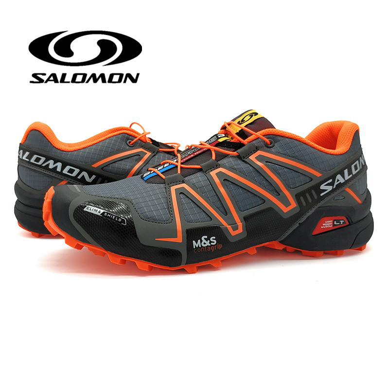 Salomon Speed Cross 3 Hommes Chaussures Orange Chaussures de Course Haute Qualité Sneakers Homme Marche En Plein Air Sport chaussures Rétro