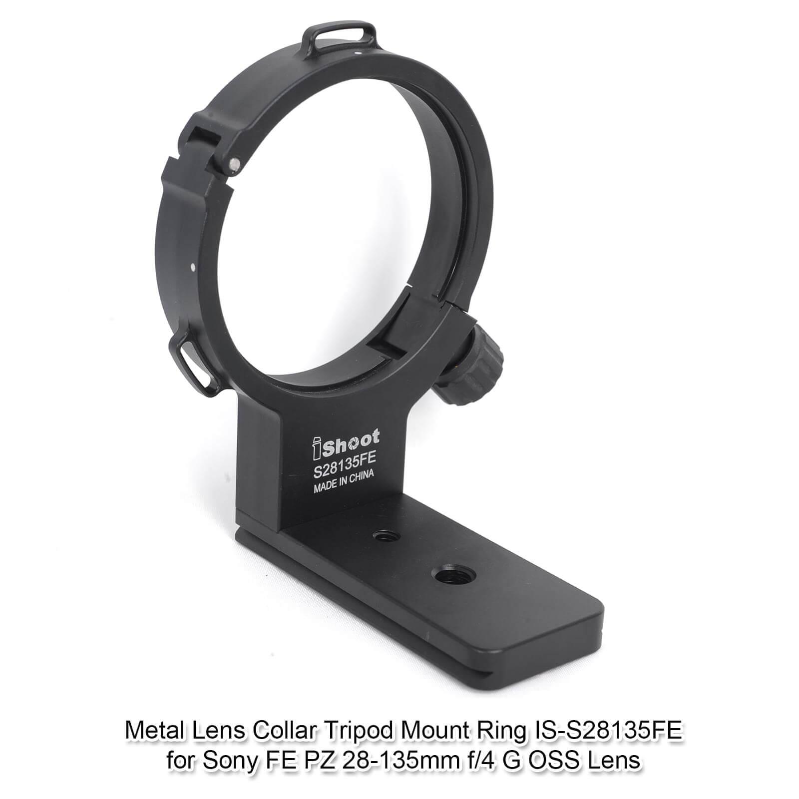 Металлический объектив воротник штатив крепление кольцо Поддержка кронштейн для sony FE PZ 28-135 мм f/4G OSS объектив с стандартной быстроразъемной пластиной