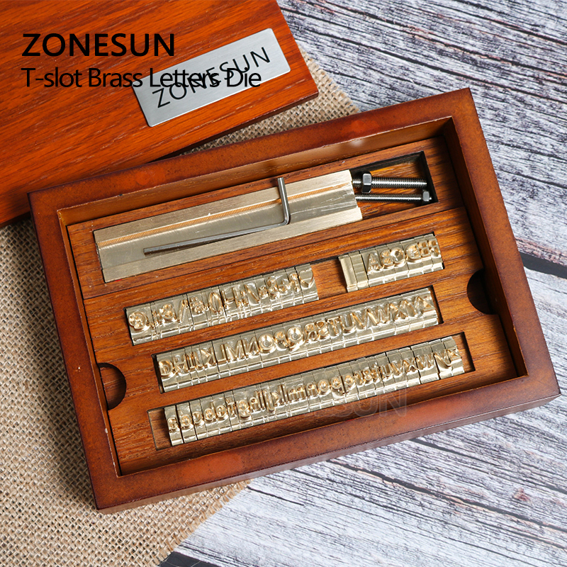 ZONESUN 6 mmpersonnalisé en laiton timbre bois bricolage artisanat Alphabet lettre numéro symbole en cuir timbres estampage envie outil marque fer moule - 5