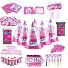 2c1dc96c8426d 138PCS Wholesale peppa pig Theme Disposable Tableware Party decoration Baby  Happy Birthday wedding event party supplies