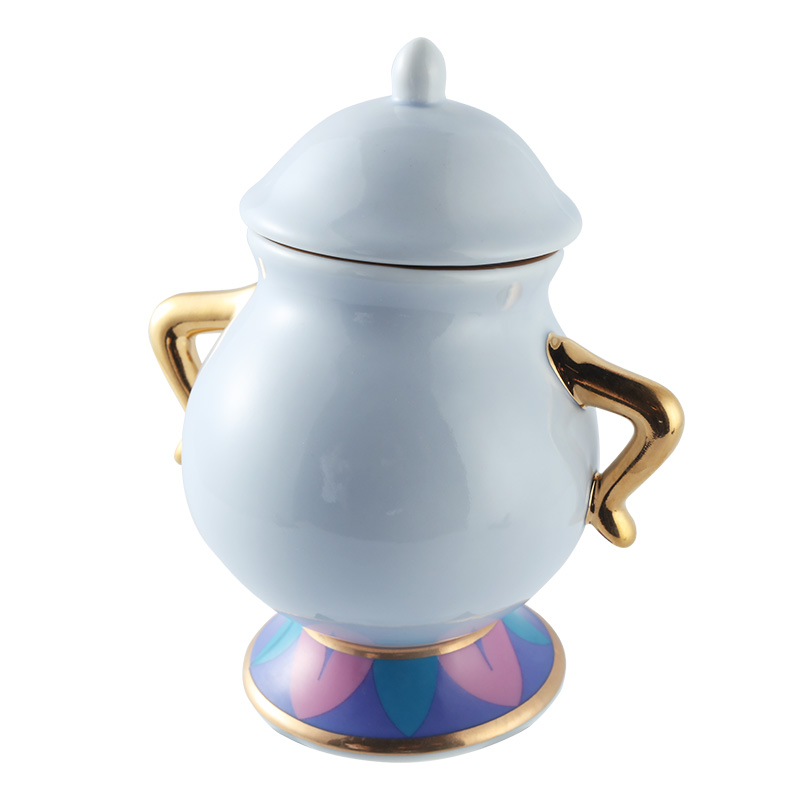Cartoon Beauty And The Beast Coffee Pot Cup Mug Mrs Potts Chip Kettle - Kitchen, Dining and Bar - Photo 4