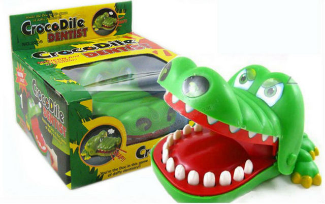 Big size magic crocodile dentist bite your finger at random Halloween  finger toy for adult and kids party toy gift novelty item 697cc30741