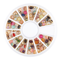 12 Grid Round Beads Nail Art Decoration Wheel Pearl Crystal UV Gel Glitter Polish for Nails Beauty Bling Stone DIY Manicure Tool