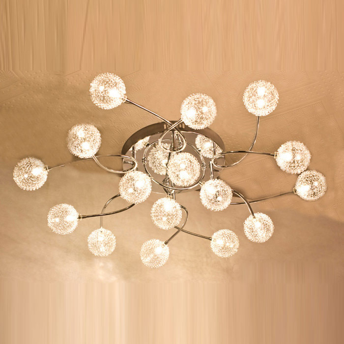 Ժամանակակից ալյումինե մետաղալար Crystal - Ներքին լուսավորություն - Լուսանկար 2