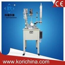 20l Great Price Chemical Vacuum Vertical Agitator Pharmaceutical Glass Reactor