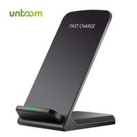 UNTOOM-cargador inalámbrico Qi de 10W, almohadilla de carga inalámbrica QC 2,0 para iPhone X/ 8/ 8 Plus, Samsung S6, S7, S8 Plus, Note5