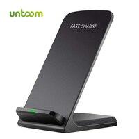 Untoom 10 w qi carregador sem fio  qc 2.0 almofada de carregamento sem fio para iphone x/8/8 plus samsung s6 s7 s8 mais note5 doca estação|charging pad|wireless charging pad|wireless charger -