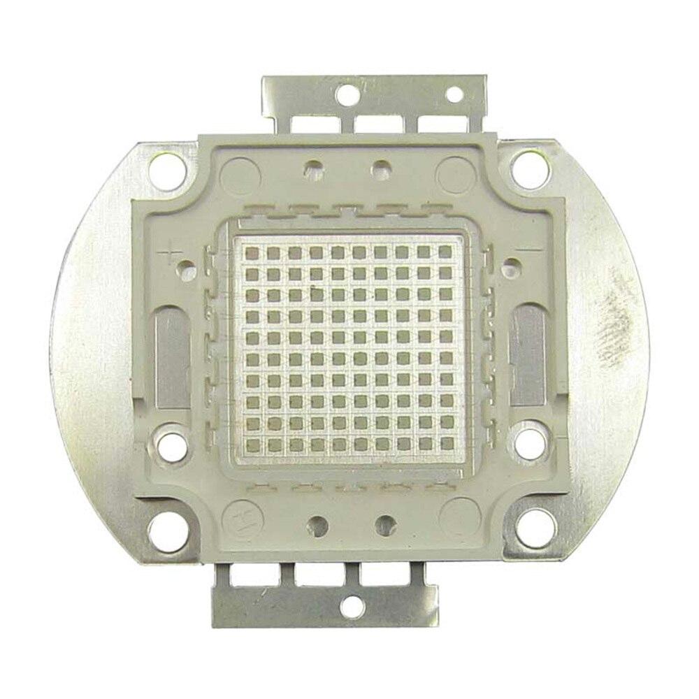 100W Square Base UV Ultraviolet 365nm 34V 3500mA SMD LED diodes Light Parts For Sterilization 100w square base infrared ir 850nm smd led light lamp parts 17v 3500ma