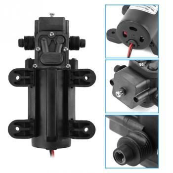 60W 5L/Min DC24V Diaphragm Pump  Miniature High Pressure Electric Diaphragm Self-Priming Water Pump miniature electric diaphragm pump pressure switch car wash sprayer self priming 12v60w threaded interface direct port