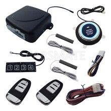Universal Rolling Code PKE Car Alarm System W Password Keypad Remote Start Stop Engine Push Button