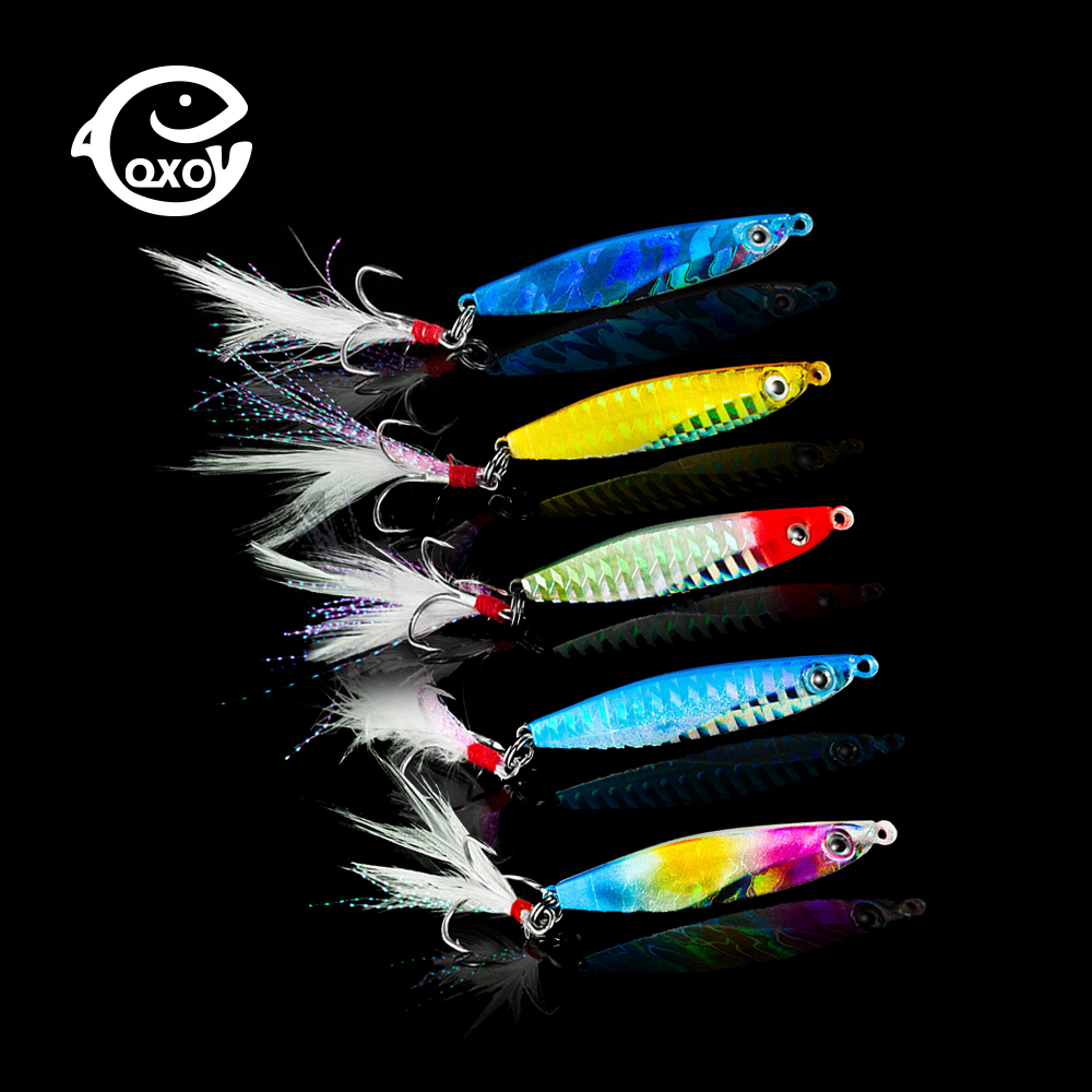 QXO Fishing Lure Spinners Spoon Bait Jig Silicone Bait Wobbler Squid Peche Octopus Winter Sea Ice Fishing Minnow7 14 18 30g