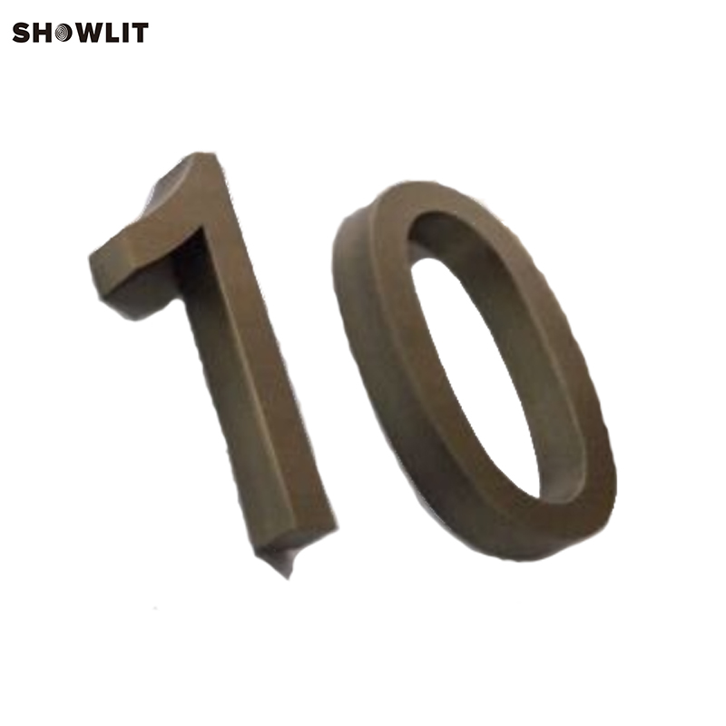 New Arrival Brushed Stainless Steel Modern House Numbers popular brushed stainless steel led backlit house numbers