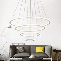 Современный круговой двухсторонний СВЕТОДИОДНЫЙ светильник для гостиной, спальни, кабинета, столовой