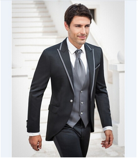 2019 Latest Slim Fit Groom Tuxedos Excellent Men Suits Wedding Tuxedos Men Formal Business Prom Party