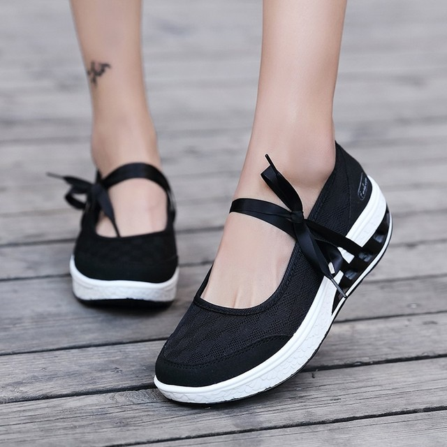 5a865992d Fashion Women Air Cushion Platform Shoes Shake Shoes Slip Sport Leisure Sneakers  2018 High Thick Heels Shoes sapato feminino