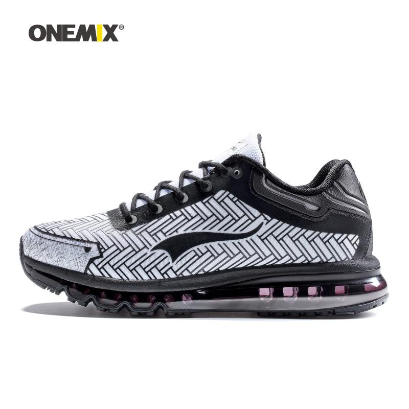 ONEMIX hommes chaussures de course extérieure durable chaussures de jogging sport amortissement coussin baskets pour travailler trekking grande taille 39-46