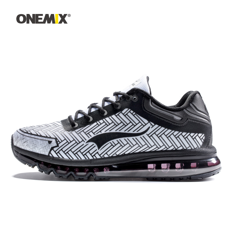 ONEMIX men running shoes durable outdoor jogging shoes sports damping cushion sneakers for working trekking big size 39-46
