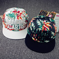 New 2017 top 3d Embroidery and flower print brim straight men women hip hop caps luxury brand dancer chapeau casual swag hats