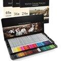 DELI 24/36/48/72 цвета водорастворимые цветные карандаши Дерево нетоксичный цветной карандаш для школы Drawiing Набор для рисования художника