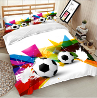 100 Egyptian Cotton 3D Football Bedding Bed Sheet Set Bedclothes Super King Duvet Cover Sets Bedding