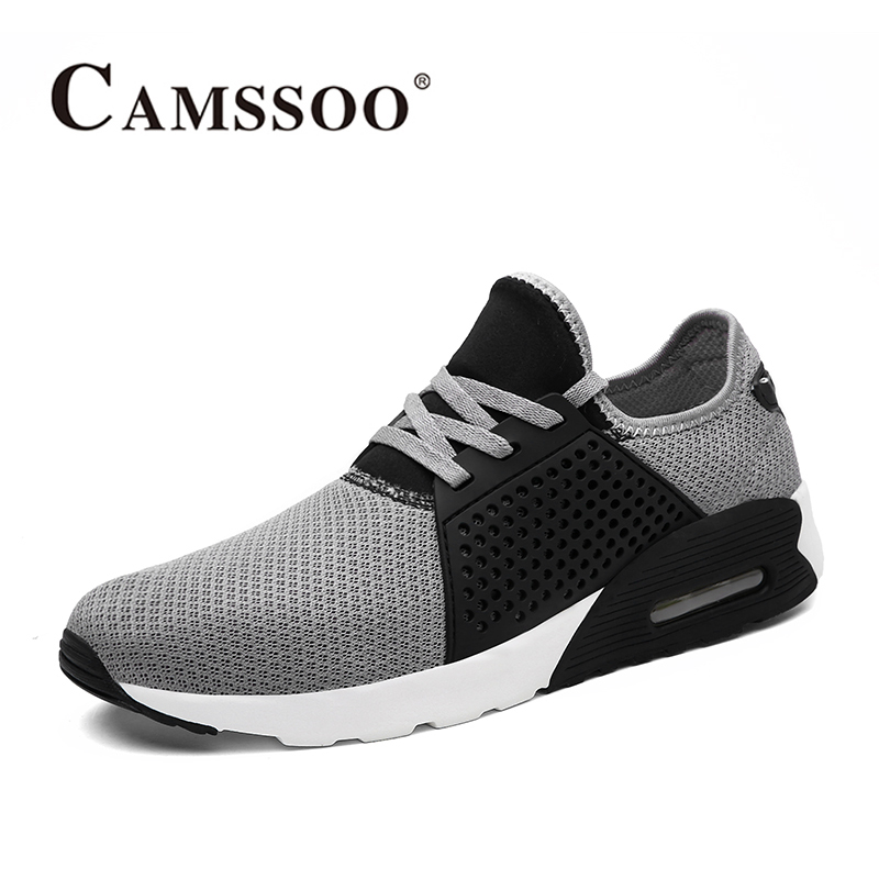 2017 Camssoo Men Trail Running Shoes Light Weight Outdoor Sport Shoes Breathable Mesh Walking Shoes Blue Grey Free Shipping 6076  summer running shoes mesh men walking camping shoes outdoor sport breathable running shoes