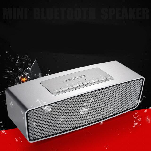 Novo Wireless Speaker Bluetooth V4.0 Telefone Móvel Computador Aparelho de som Pequeno Mini Subwoofer de Áudio Portátil Inserir O Cartão De Memória