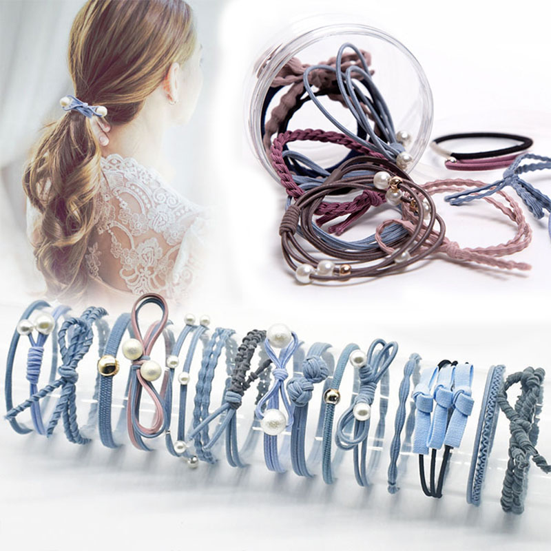12 Pcs/lot New Fashion Headbands Women Hair Accessories Elastic Hair Bands For Female Girl Hairband Hair Rope Gum Rubber Band