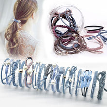12 Pcs/lot new Fashion Headbands Women Hair Accessories Elastic Hair Bands for female Girl Hairband Hair Rope Gum Rubber Band(China)