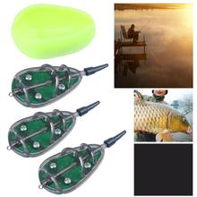 High Quality Method Fishing Feeder Set Carp Lead Sinker Free Lures Bait Holder 30g 40g 50g Tool Pesca