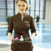 Wholease work wear uniform beautician overalls elegant uniform for beauty salon spa beautician work clothes AA2697 YQ