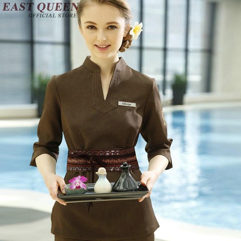 Wholease work wear uniform beautician overalls elegant uniform for beauty salon spa beautician work clothes AA2697 YQ