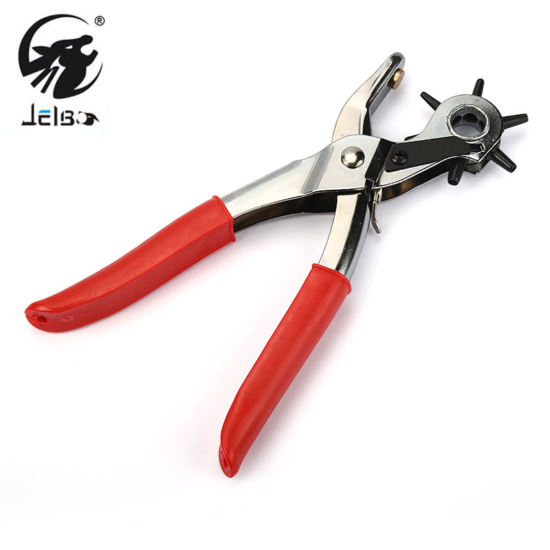 Jelbo Leather Belt Punching clamp All round Hole puncher Household Multi-function Rotary drilling Punche Eyelet Hole pliers