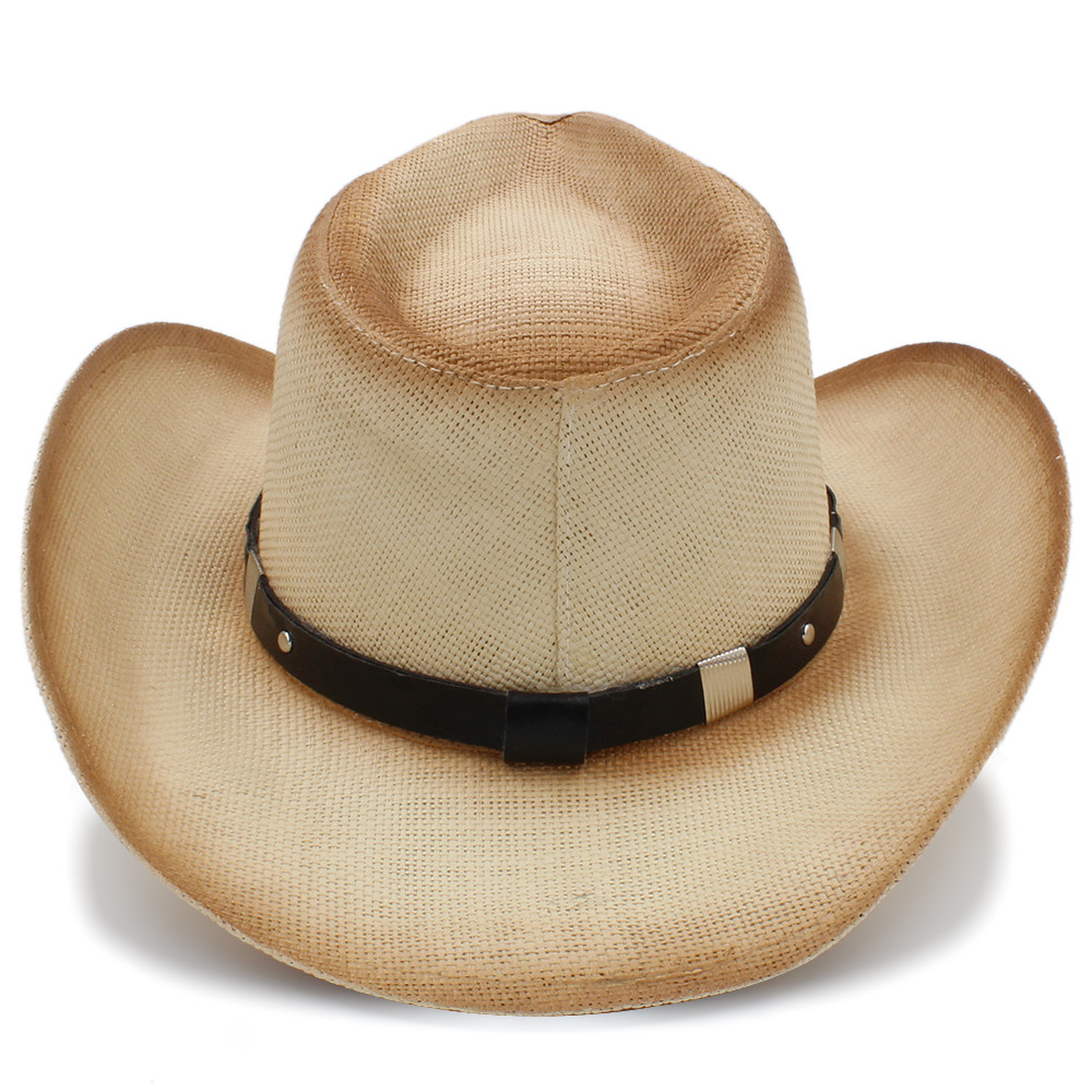 Tejido a mano sombrero vaquero de paja para las mujeres hombres jpg  1000x1000 Sombreros vaqueros para 0e0320e10c4