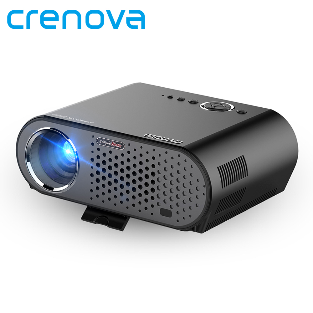 Crenova GP90 1280x800 Full HD 3200 Lumen LED Projector GP90UP 1GB 8GB Android 4 4 Bluetooth