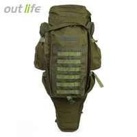 Outlife 60L Outdoor Climbing Bag Military Backpack Water Resistant 1000D Nylon Rucksack For Camping Trekking Hiking