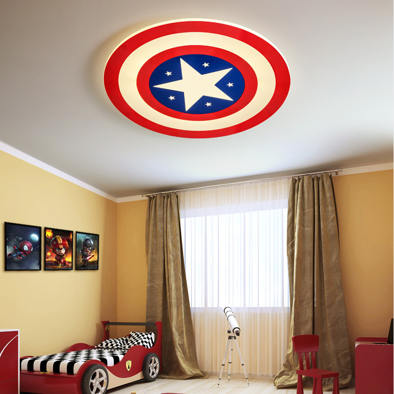 Captain America Star Kids Ceiling Lamp Cartoon Princess Girls Boys Baby Kids Childrens Room Light Ceiling Led Lighting NurseryCaptain America Star Kids Ceiling Lamp Cartoon Princess Girls Boys Baby Kids Childrens Room Light Ceiling Led Lighting Nursery
