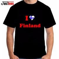 Ik Liefde Finland Mannen T-shirts Fashion 2018 Merk Kleding Hip Hop Jerseys Naties Katoen t-shirts Fitness FIN FI Land Vlag Tees