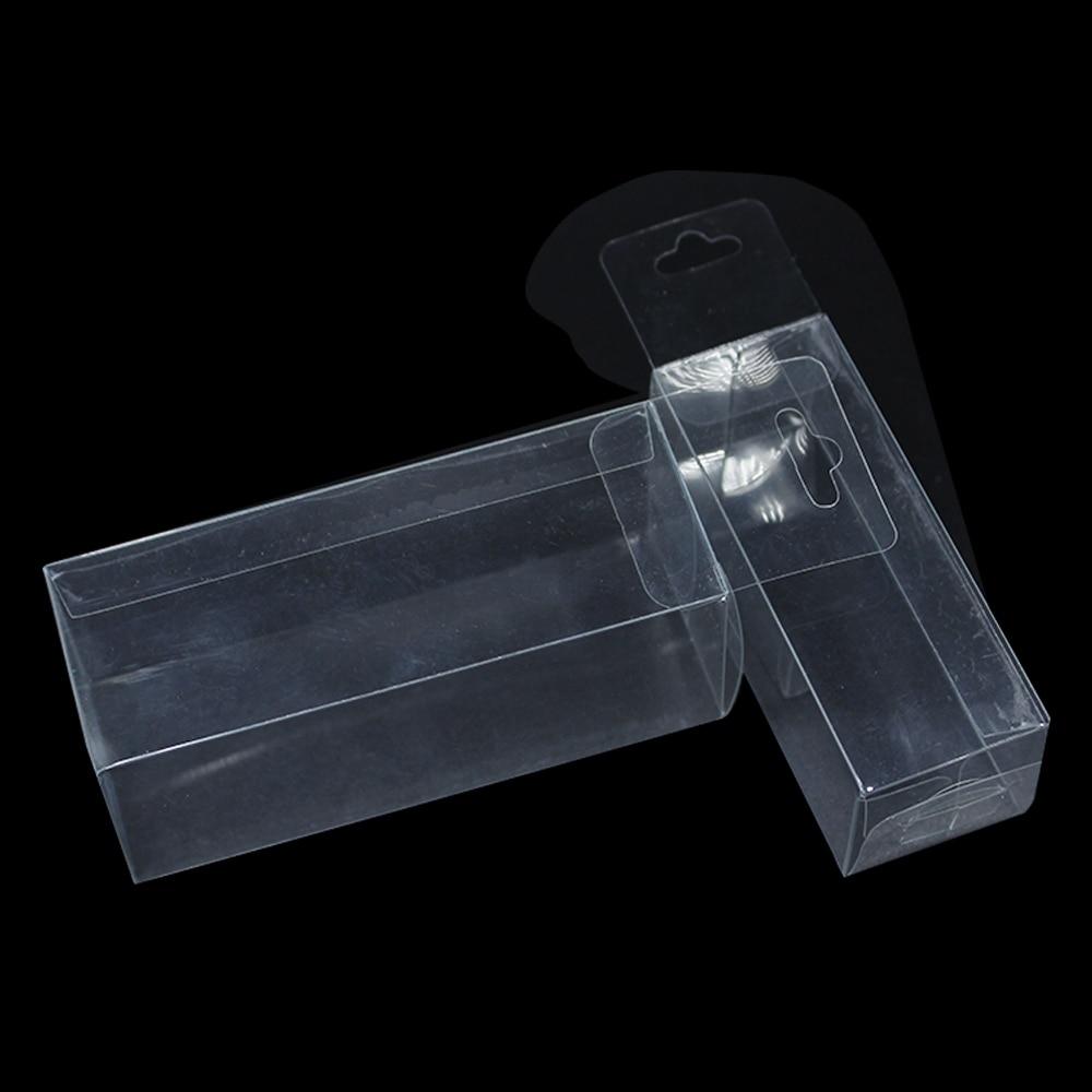 fcaebe936 80 Pçs lote 3 3 7.5 cm Partido PVC Plástico Pendurar Buraco Poli Clara  Caixa de Exibição De Jóias Pequeno presentes Caixas de Embalagens de  Cosméticos