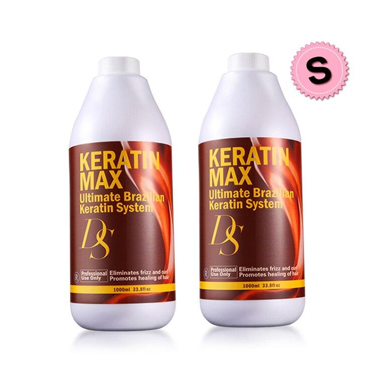 Livraison Gratuite 1000 ml 8% Formol Brésilien Kératine Traitement Cheveux Redresseur Produits Faire Lissage Brillant Cheveux