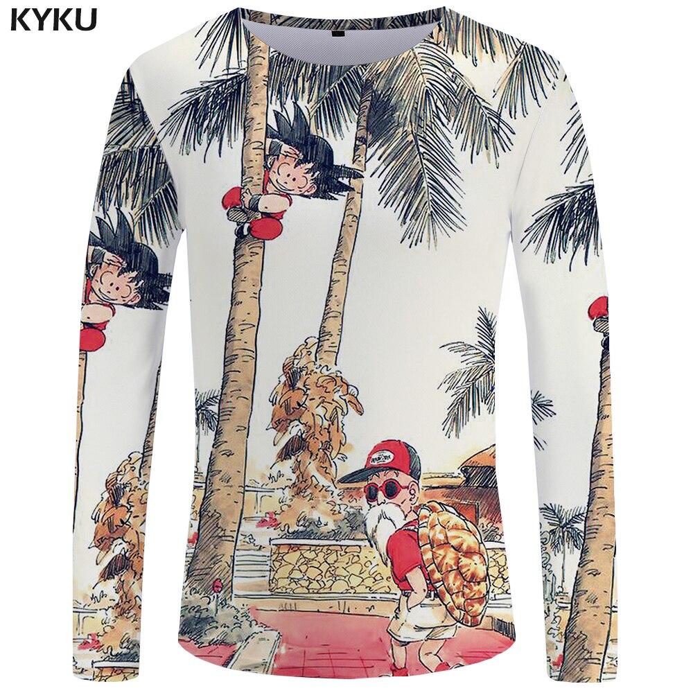 Kyku Dragon Ball Langarm T Shirt Sun Wukong Kleidung Schildkröte Fee Tops Lustige T Shirts Kleidung 3d T-shirt Männer Mode Gut Verkaufen Auf Der Ganzen Welt T-shirts