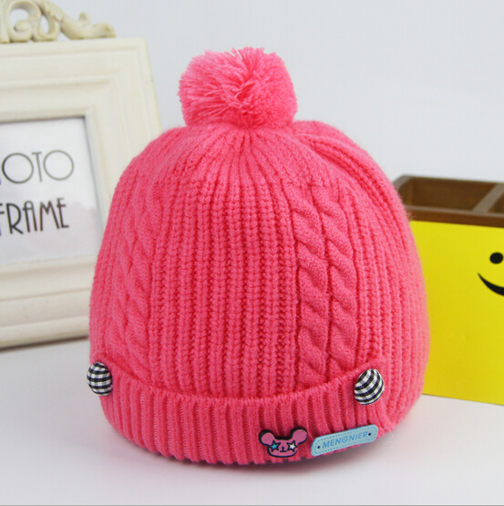 New arrival Autumn winter baby caps imitation cashmere newborn infant hat&caps 5 colors boys girls cap