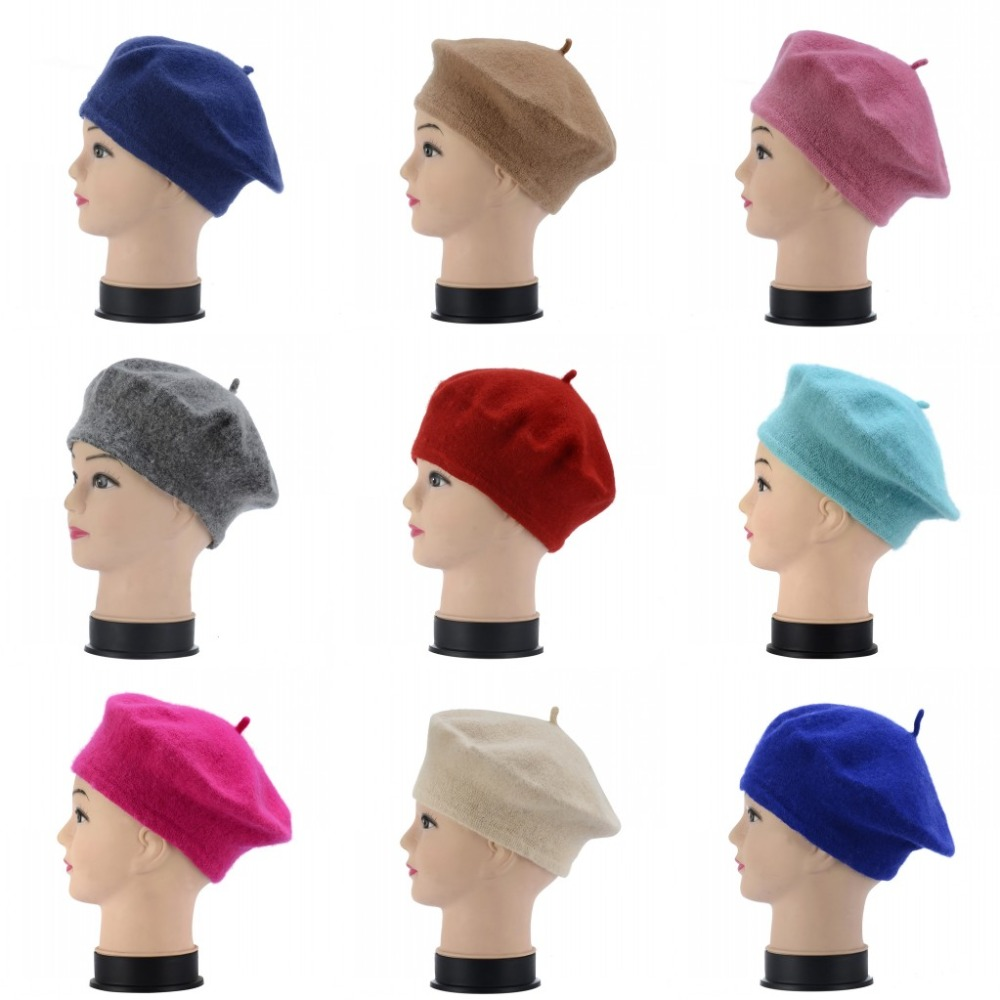 Korean hat wool warm winter hat Beret women Hat knitted beanie for Painter winter knit hats for women chifres malevola png